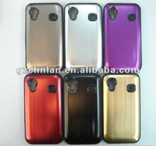 2012 brushed metal aluminum case with silicon for samsuang galaxy ace s5830