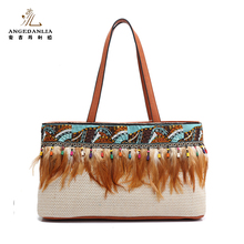 Hippie style boho sling shoulder travel hmong bags