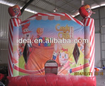 The Candy Crush inflatable bouncer,printing castles, moonwalk NB039