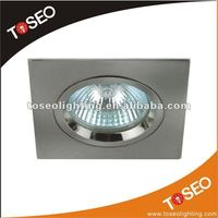 12v 3w square recessed light fitting for mr16 50w