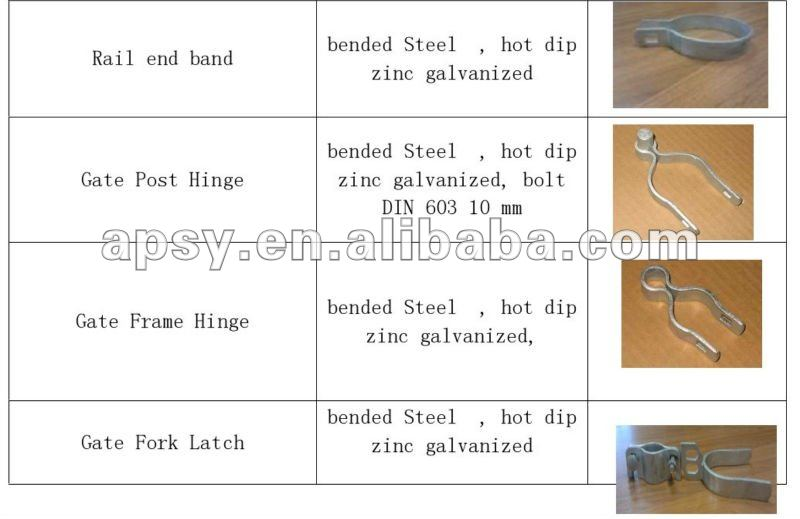 forged iron or aluminum fence parts