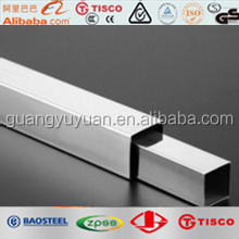 ASTM A312 stainless steel square pipe 202