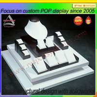 High end jewelry display set, counter top jewelry display case