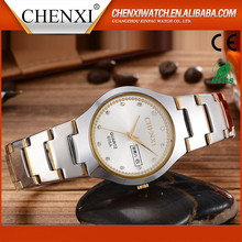 Birthday Gift Ideas CE RoHS Day/Date Couple Lover Wrist Watch Water Resistant Cute Wrist Couple Watch