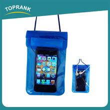 Toprank Promotion Universal Water Proof PVC Waterproof Cell Phone Pouch For Swimming With Earplugs