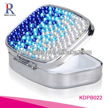 High Quality Promotion Bling Rhinestone Diamond Pill Box Timer Wholesale Supplier|Factory|Manufacturer