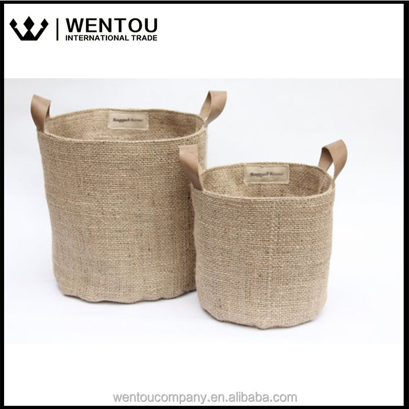 Eco Friendly Burlap Storage Basket