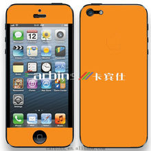 Matte Orange wrap decal sticker skin For iPhone 4,4S,5 full body