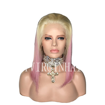 Ombre Pink Lace Front Wig