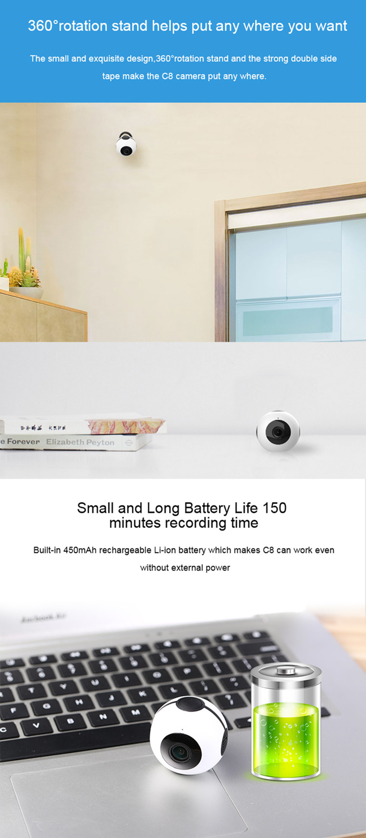 Home security hd 1080p mini smart invisible hidden wifi spy camera