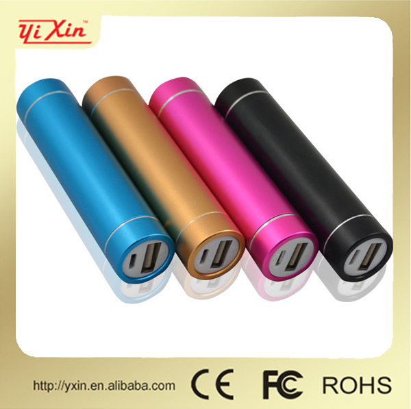 Lipstick portable mobile phone 2600mah power bank for htc, samsung, nokia, blackberry
