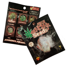 Free sample smell proof ziplock custom mylar sealed marjuana package with clear window