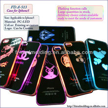 2014 New Hottest flashing phone case for Iphone5