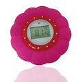 BPA FREE Waterproof Red Flower Baby Bath Thermometer