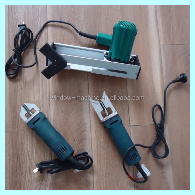 Portable corner cleaning tool for pvc upvc plastic vinyl for Fabrication fenetre pvc