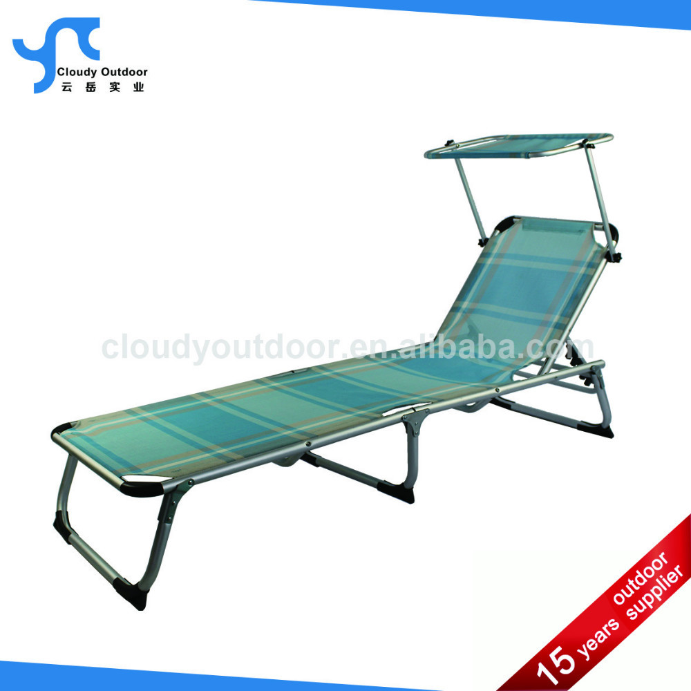 folding sun lounge chair with canopy