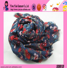Fashion Colorful Flower Printed Warm Scarf Wholesale Winter Hot Sale Low Price Scarf Pashmina For Women