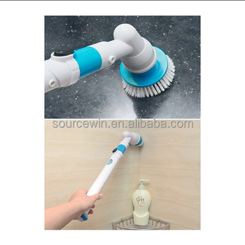 Turbo Scrub Handheld Rechargeable Cleaner Brush Scrubber Cleaning Kit Spin brushes with 3 Head Sets