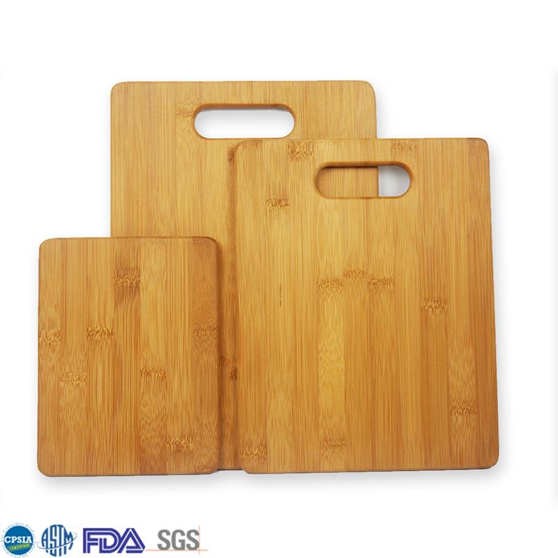 Cheap Kitchen 3 Pcs Wood Organic Cutter Board Set