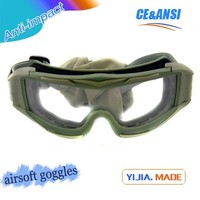Hot model ballistic goggles famous ballistic bulletproof glasses anti-fog high impact resistant military ballistic goggle