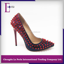 made in china red bottom ladies fashion high heel shoes