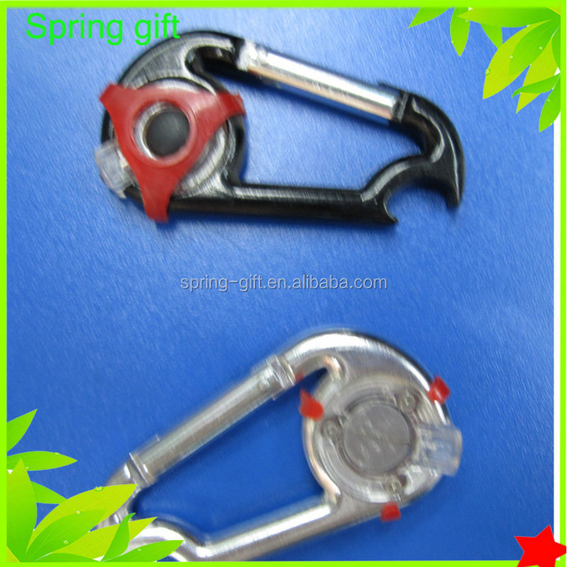outdoor sprot camping led carabiner hook
