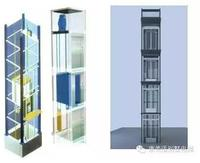 Small Elevators For Homes with Glass Cabin Wall