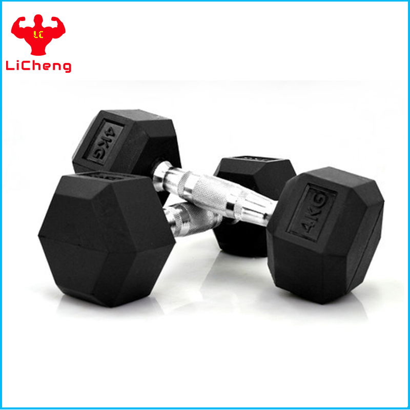 Wholesale Rubber Hex Dumbbell For BodyBuilding Fitness