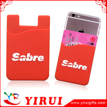 adhesive mobile phone silicon credit card holder wallet for cellphone