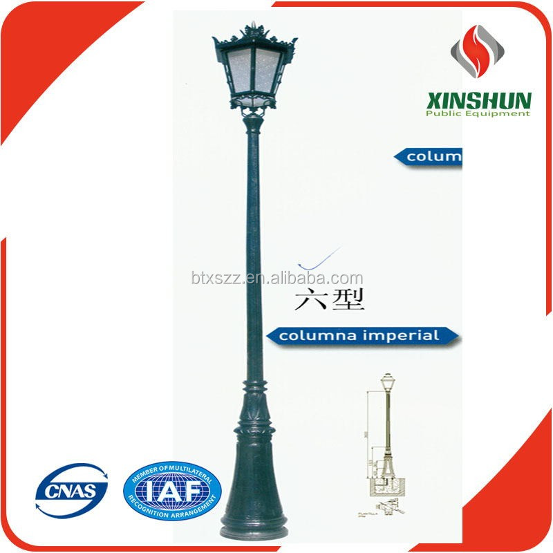 Cast iron street lamp post,antique cast iron lamp post from China