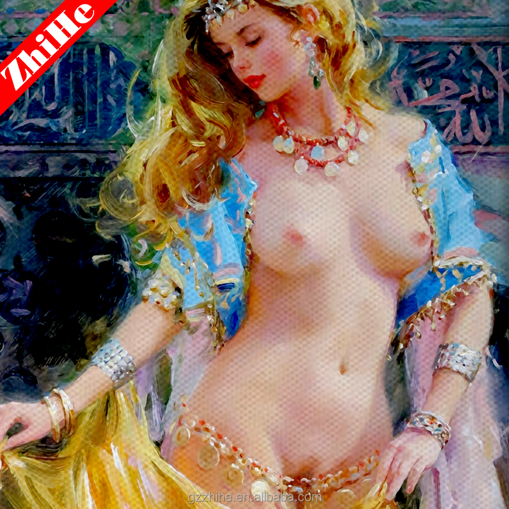 dropshipping oil painting with sexy girls for home decoration oil paintings for building materials photos sexy full open lady