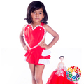 Valentines Day Baby Girls Romper Bottom Ruffle Halter Romper Toddler Romper
