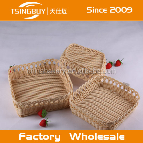 Eco-friendly and disposable hadicarft handmade PP plastic baskets/PP bread basket/plastic bread baskets uk
