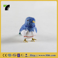 Handmade Art Craft Artificial Mini Feather Blue Bird For Sale