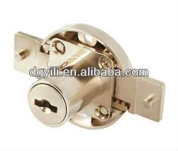 YL303 furniture locks for multi drawers with aluminium solid locking bar