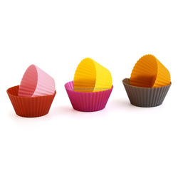 Top grade updated colorful kitchen silicone cake cups