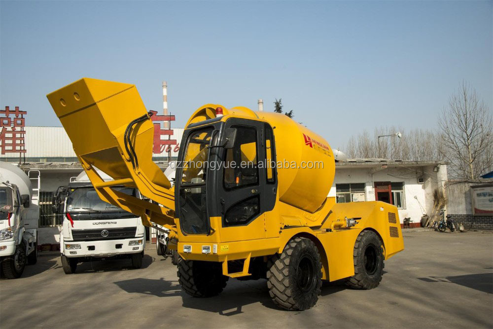 4cbm capacity self loading mobile cement mixer enjoy global service