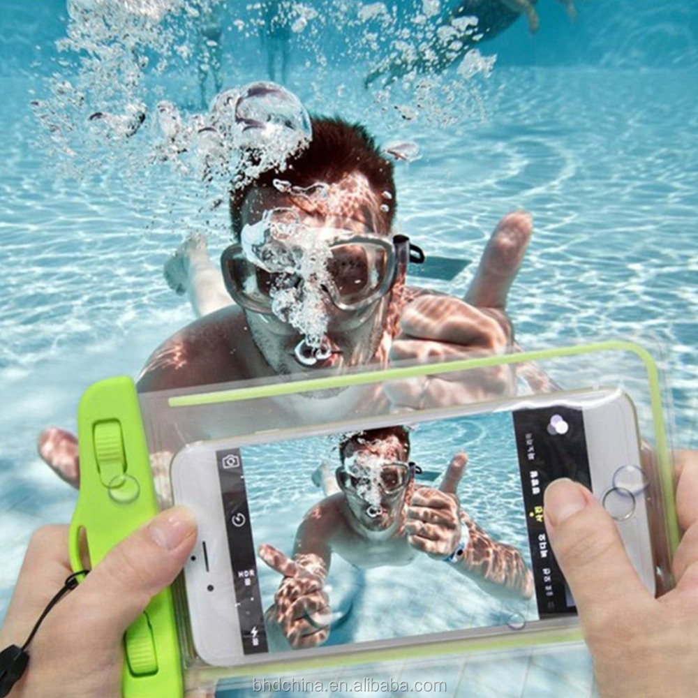 Wholasale cheap price waterproof pouch bag Waterproof Underwater Cell Phone Pouch Bag Case Cover for iPhone6/6S Plus