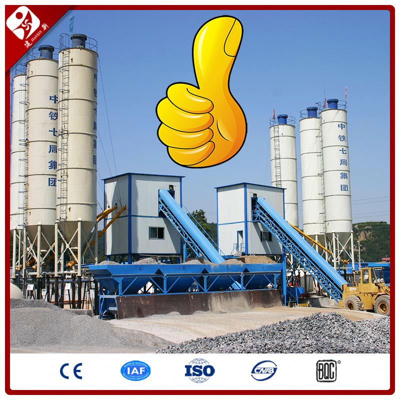 China Total Station Price Of Hzs90 Chinese Complete Structure Concrete Batching Plant