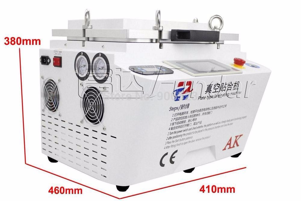 Free Shipping AK OCA Vacuum Laminating machine Remover Machine Debubbler Integrated phone touch screen repair machine