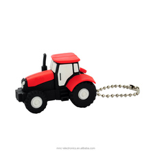 Hot selling farming machinery promotional gift custom logo 8GB tractor shape usb flash pen drive