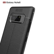 2017 New Design For Samsung Galaxy Note8 Cover Case Gel TPU Rubber Soft Silicone litchi Pattern Protective Case