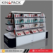 customized cosmetic display stand showcase make up kiosk for sale