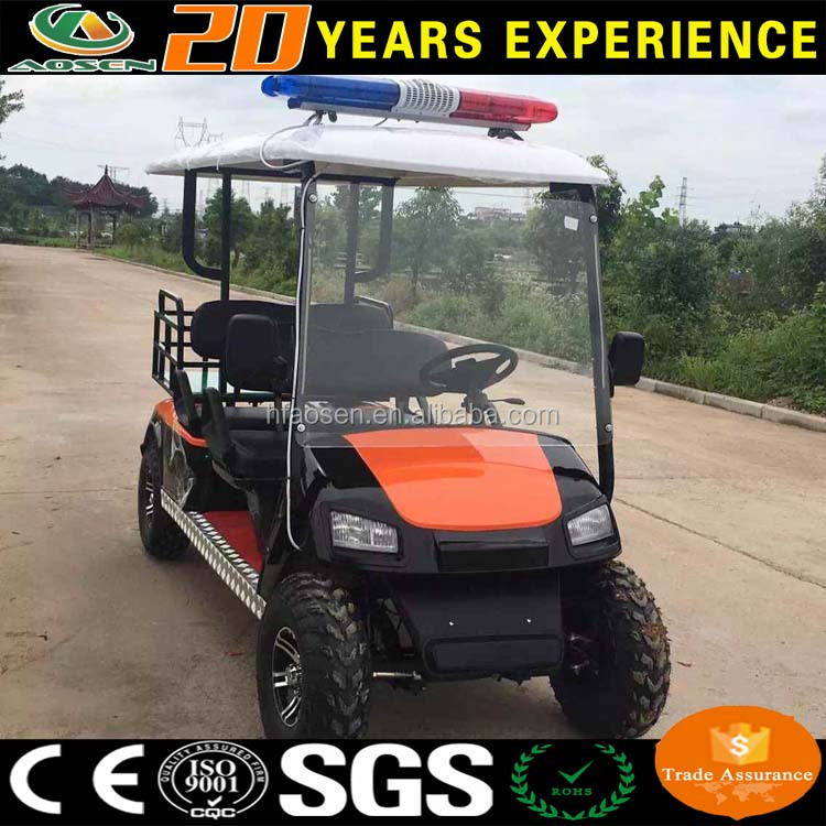China cheap police golf cart for sale with light CE