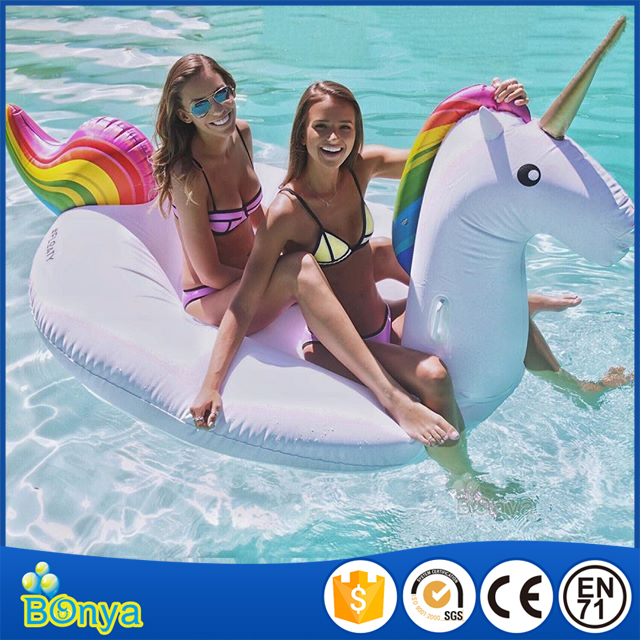 great funny inflatable water toys pool lounge float giant unicorn pool float