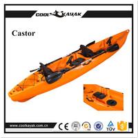 Cool kayak 3.78m length PE material no inflatable plastic fishing boat