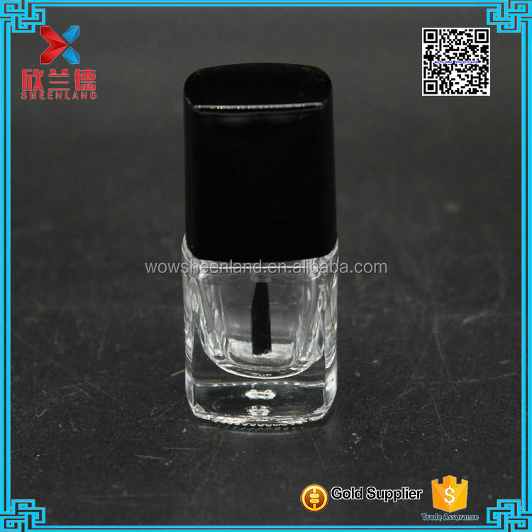 wholesale 5ml square clear nail polish bottle in stocks