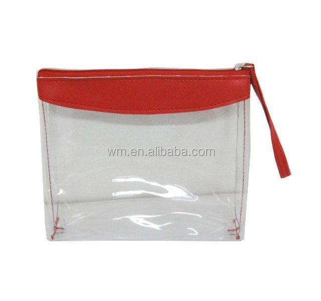 factory cheap clear cosmetic PVC bag pouch for promotion