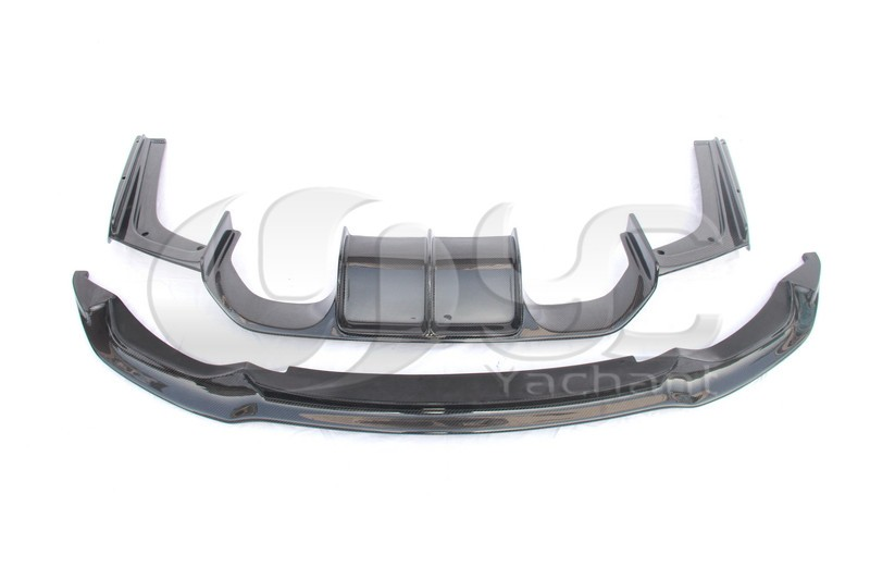 Trade Assurance Carbon Fiber Front Lip Rear Diffuser Fit For 2014-2015 F80 M3 F82 F83 M4 VRS Style Front Lip & Rear Diffuser