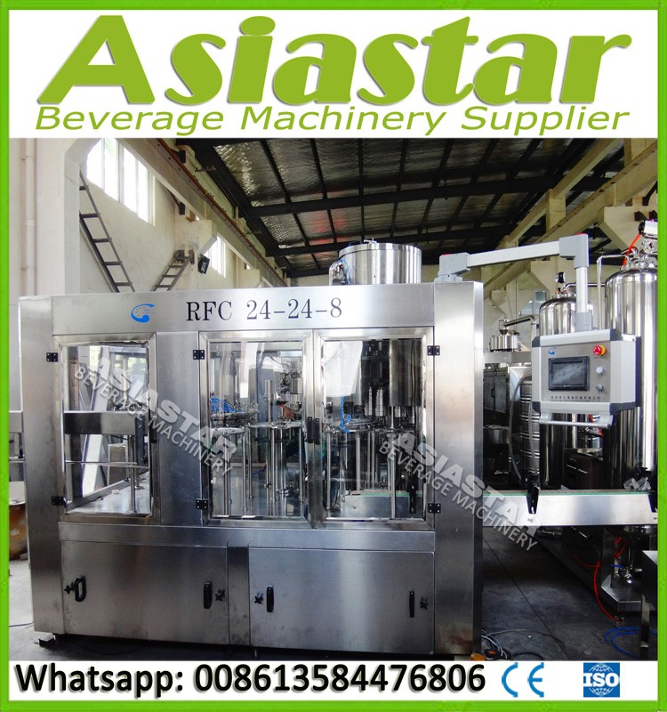 Hot selling automatic 3 in 1 carbonated beverage production system